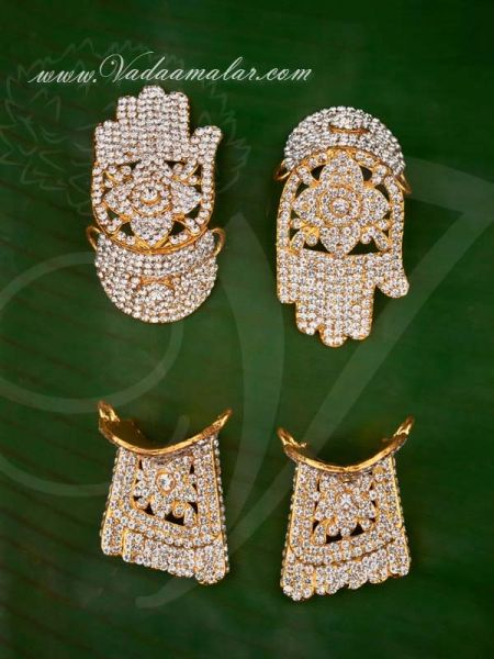 Hastham and Paatham Deity Vigraha Palm Feet Decoration Temple Ornaments Buy Now 3