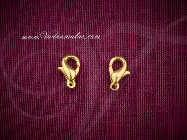 20 Gold Lobster Clasp Claw 5x10mm Jewellery Hooks Necklace And Bracelet