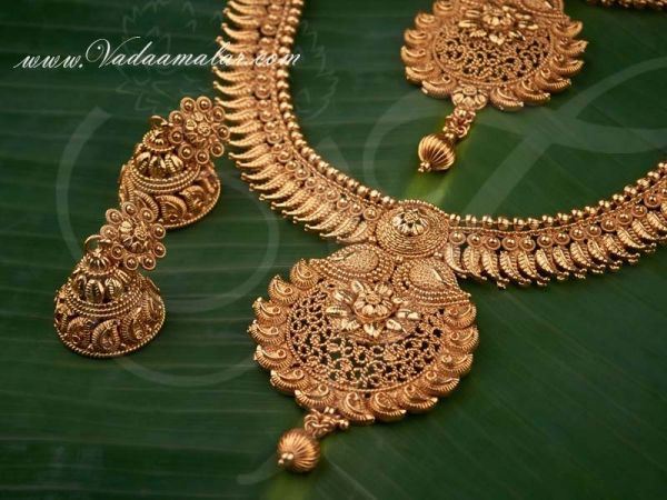 Mango Design Ethnic Indian Traditional Antique Bridal Jewellery Set for Women Available online