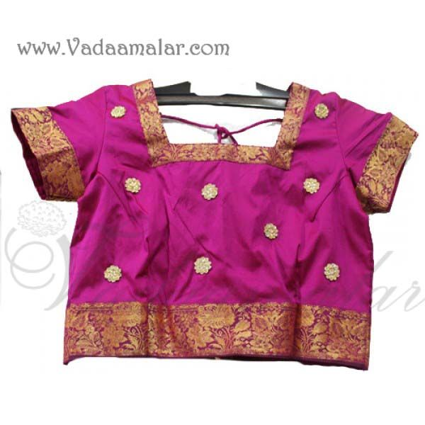 Any size Kds Childrens Pink Skirt & Blouse/ Pavadai Chatti Chatta for girls