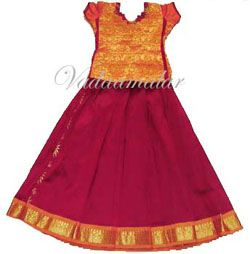 Buy Girls Skirt and blouse Pavadai Chattai South India Festival Dance Costume