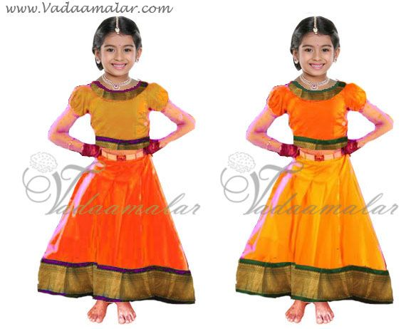 1  Pavadai Chattai Childrens Costume South Indian Skirt Blouse Costumes