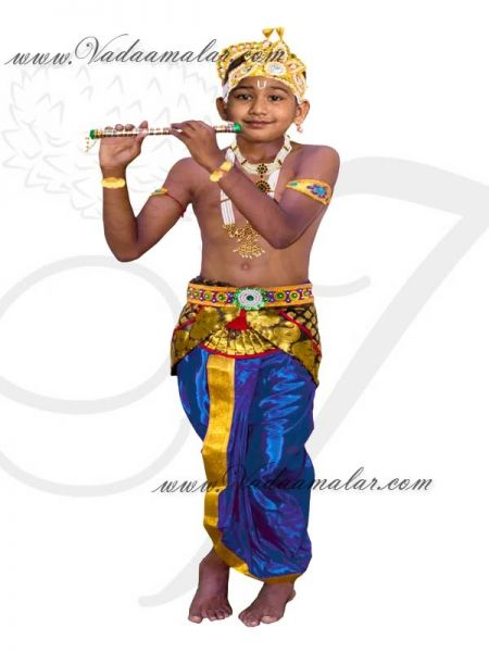 Buy Fancydress Krishna Costume For Kids with accessories for janmastmi and fancy dress competition KrishnaCostume