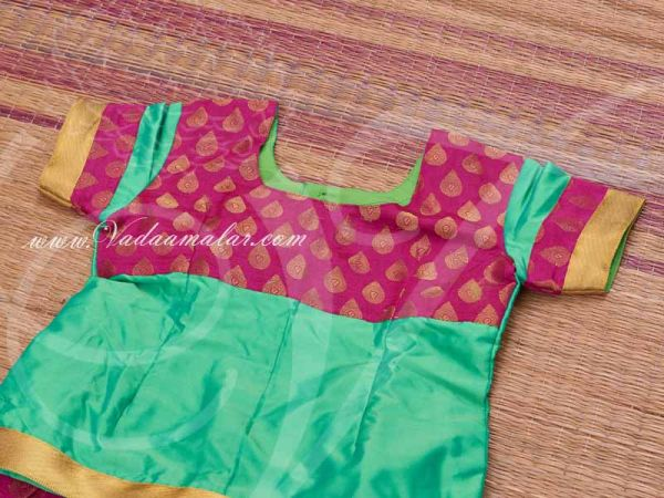 Girls South India Attached Pattu Pavada Pavadai Chatta chattai Skirt Blouse buy
