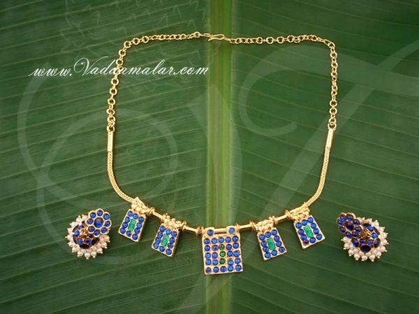Kemp Stone Necklace With Jimki for Traditional Sarees and Salwars