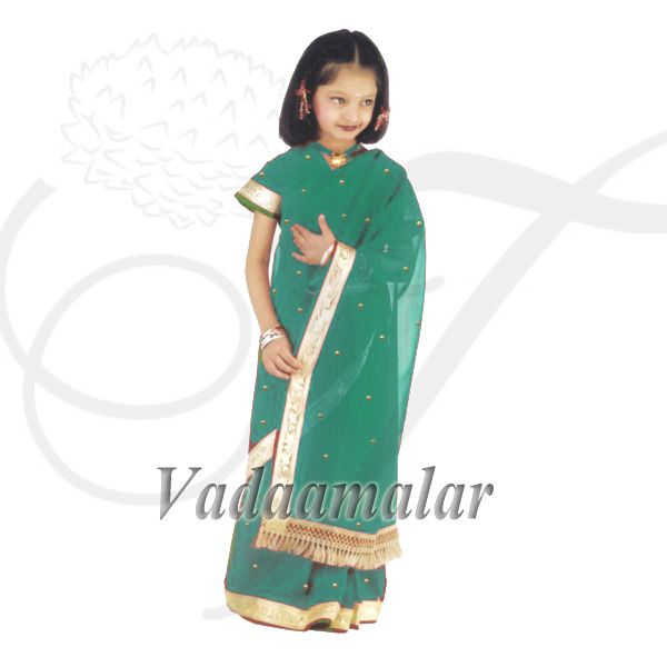 India Girls Children Costume Readytowear Pre-pleated India Indian sarees