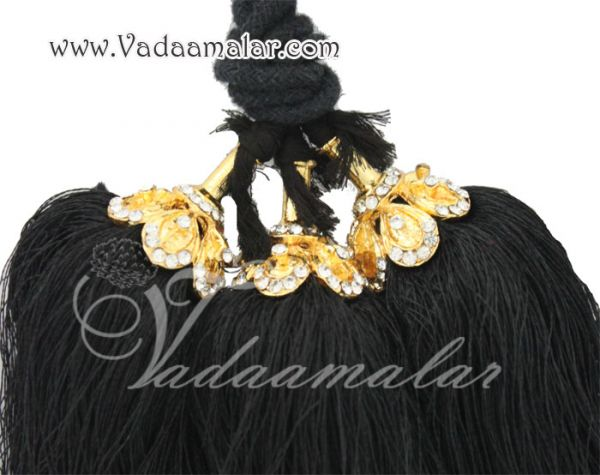 Small size White Stone Kunjalam Hair Paranda Hair Accessories For Bride and Dancers