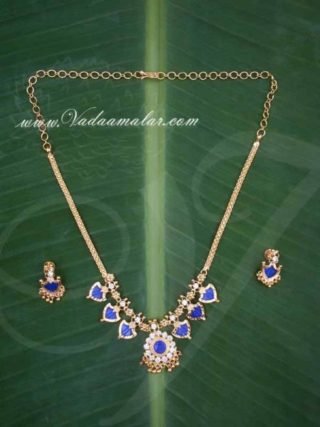 Kerala Palaka Design Short Necklace with Matching Earring Set Buy online