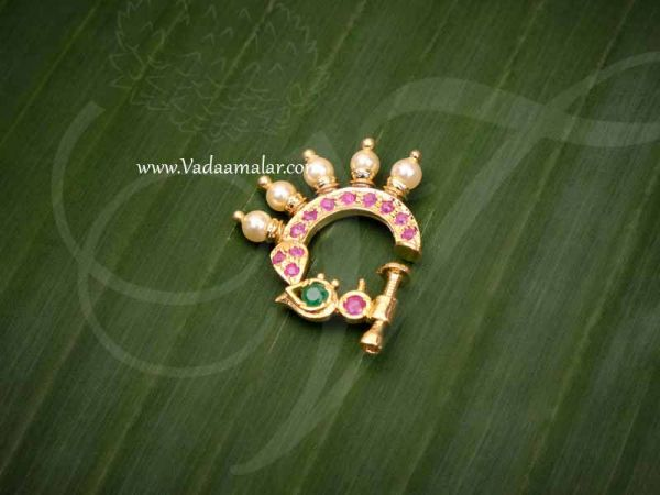 NoseRing For Non Pierced Nose Ruby Emerald Nath Jewellery Buy Now