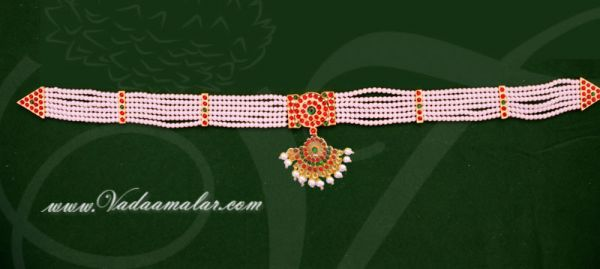 Buy Pearl Waist Belt Online Small size Indian hip chain