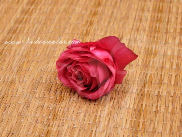 20 Assorted Colours Artificial Rose Heads Flower Roja Buy Now 2.4