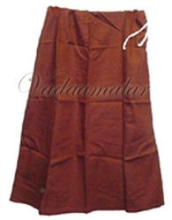 Brown Pure Cotton Readymade Saree Petticoat Ready to Wear Inskirt PettyCoat
