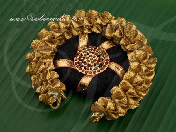 Small Size Indian Bridal Hair Design Band Ring Gold Flower Jewellery Buy Now