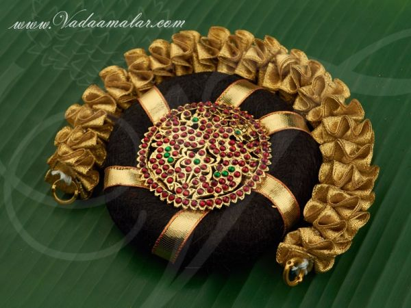 Indian Bridal Hair Band Ring Gold Flower Jewellery Buy Now