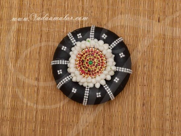 Indian Wedding Hair Band Accessories Ring with Flower Jewellery Bharatanatyam Dances Buy Now