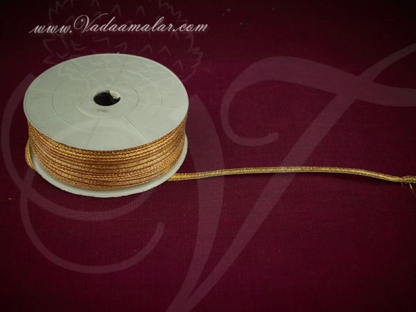 0.25 inch Gold Trim Lace Buy online End Borders - 16 meters / 17.5 yards
