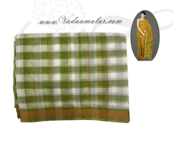 Traditional Light Green Colour Pure Cotton Saree Buy Online