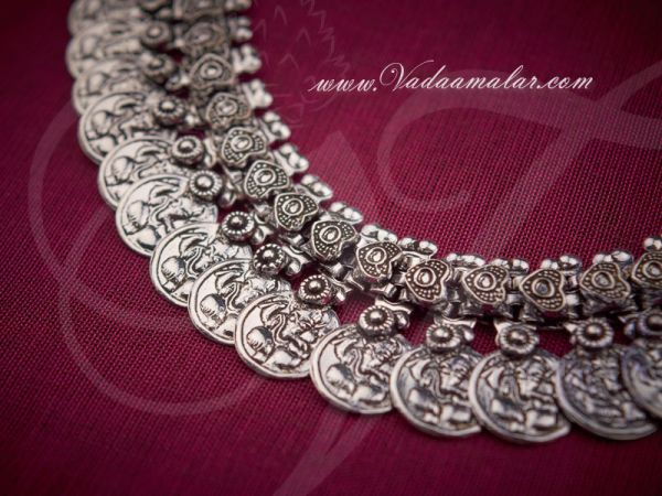 Vintage Necklaces For Women Jewelry White Metal Coin Necklace