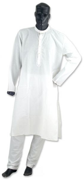 NEW White Cotton Kurta Kurtha Payjama Pajama Set